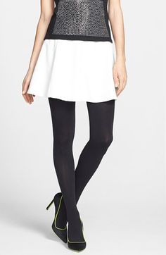 DKNY 'Super Opaque' Control Top Tights available at #Nordstrom