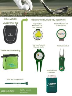 2d529c670be Choose from a large selection of golf tournament gift ideas and golf  promotions. Custom imprint any golf item to promote a corporate or charity  golf ...