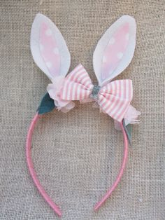Bunny Headband Easter Headband Rabbit Headband by VivibellesBows