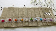 NOTE! THIS IS AN INTERNATIONAL DELIVERY Please, LOOK at my Shipping & Policies BEFORE placing the order!  Looking to add a splash of rustic decor throughout your wedding tablescape? These burlap and lace silverware holders are the cutest additions to any shabby chic centerpiece! Size : 8,4 inch x 4,8 inch (21 cm x 12 cm)  100% natural burlap.  This listing is for 100 burlap silverware holders. For different quantities - please convo me and I will be happy to make a custom listing for you!...