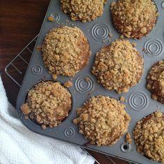 Coconut + flax banana muffins.
