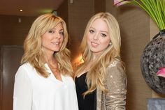 LONDON, ENGLAND - JULY 28:  Marla Maples (L) and Tiffany Trump have dinner at Sumosan on July 28, 2014 in London, England.  (Photo by David M. Benett/Getty Images) via @AOL_Lifestyle Read more: http://www.aol.com/article/news/2016/11/10/donald-trump-jr-s-name-floated-as-possible-cabinet-choice/21603019/?a_dgi=aolshare_pinterest#fullscreen