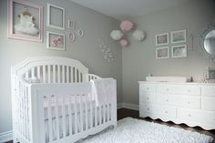 baby girl nursery room ideas 240942648794527530 - Pink and Gray Baby Girl Nursery Tour — Oh She Glows Source by cailinbotkins