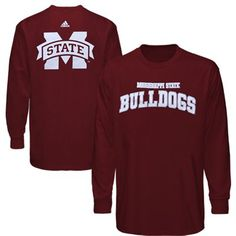 adidas Mississippi State Bulldogs Base Stealer Long Sleeve T-Shirt - Maroon  @Fanatics ®  #FanaticsWishList