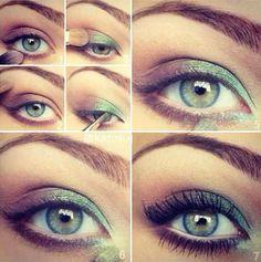 spring green eyes makeup inspiration