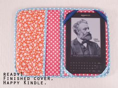 How to make an iPad or E-reader cover picture tutorial from dobleufa (English version).