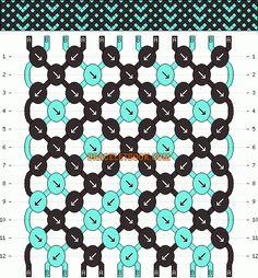Normal Friendship Bracelet Pattern #2394 - BraceletBook.com