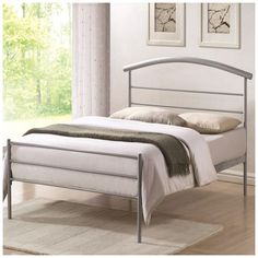The Brennington 3ft Silver Bed Frame has clean lines, an elegantly curved headboard bar and a low foot end. The bed frame has a contemporary finish that would be ideal for a modern themed bedroom.