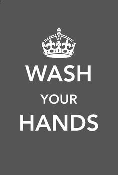 Wash your hands... Free printable