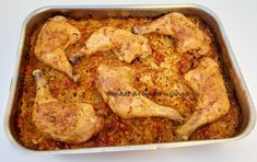Pulpe de pui pe varza la cuptor - Bunătăți din bucătăria Gicuței Chicken, Meat, Food, Eten, Meals, Cubs, Kai, Diet