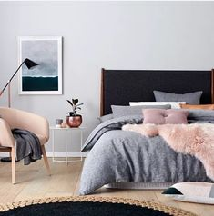 Brilliant Scandinavian Bedroom Design Ideas, Bedroom is one of the rooms where it's recommended not to use bright colours. A little bedroom isn't a curse. It is simply not the place for a king-si. Bedroom Inspo, Home Bedroom, Master Bedroom, Bedroom Decor, Bedroom Ideas, Bed Ideas, Decor Ideas, Blush Bedroom, Bedroom Designs