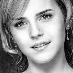 pencil drawings of people 2 - emma watson :)