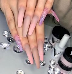 Nails Matte Ombre Coats New Ideas Best Acrylic Nails, Matte Nails, Classy Nails, Trendy Nails, Fabulous Nails, Gorgeous Nails, Hair And Nails, My Nails, Pink Ombre Nails