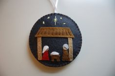 Natividad de la Navidad fieltro adorno por GeorgeNRuby en Etsy