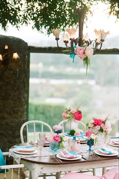 English Garden tablescape