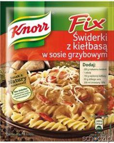 Knorr FIX świderki, kiełbasa, grzyby - Schodzi.pl