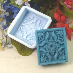 Soap Mold Soap Mould Silicon Mold Candle Mold Resin Mold Square Flower and Leaf on Etsy, £4.29