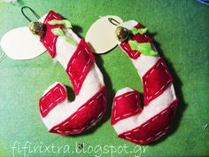 fifirixtras handmade: λίγα ακόμη andy bars? _felt Christmas ornaments