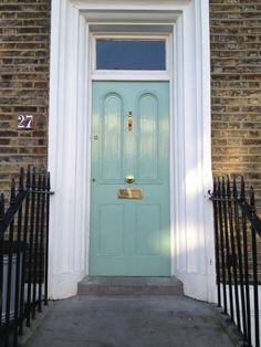 Georgian Front Door In North London Exterior White