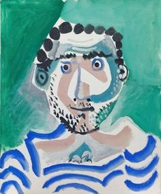 Pablo Picasso - Buste d'homme (autoportrait), 1965, oil on canvas, 61 x 50 cm