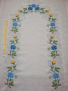 Fillet Crochet, Prayers, Crochet Patterns, Cross Stitch, Ideas, Cross Stitch Rose, Cross Stitch Art, Cross Stitch Embroidery, Dots
