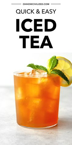 Want a super quick iced tea recipe that takes less than 10 minutes to make? An easy recipe that makes perfect iced tea each and every time. Iced Tea Recipes, Drink Recipes, Homemade Iced Tea, Tea Sandwiches, Brewing Tea, Summer Drinks, High Tea, Recipe Using, Drinking Tea