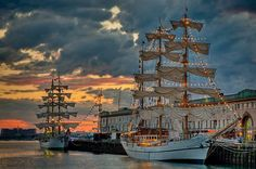 The Guayas from Ecuador and the Gloria from Colombia