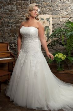 ruched bodiceplus sized wedding dress - Google Search
