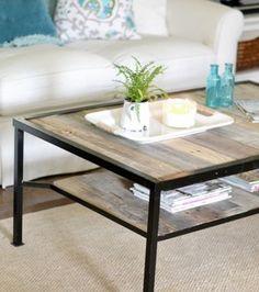 Faites une jolie table basse.