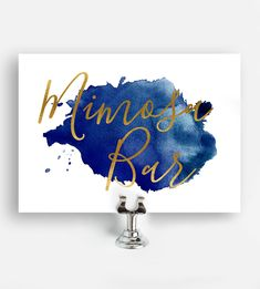 Shop for Wedding Printables on Printable Market, from independent makers everywhere. Baby Shower Printables, Free Printables, Navy Blue Decor, Blue Gold Wedding, Mimosa Bar Sign, Denim And Diamonds, Cigar Bar, Gold Watercolor, Coffee Signs