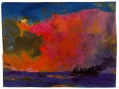 Emil Nolde - Sea with Colourful Sky  Brilliant! The colours are so vibrant and the colour blending creates a surreal rendering of sea and sky.