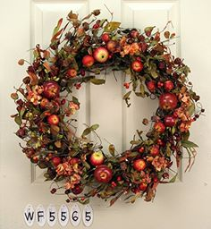 Mixed Apple Wreath -- This is an Amazon Affiliate link. Check out this great product.