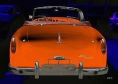Alvis-Graber TC 108/G Heckansicht in blue & orange