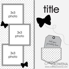 scrapbook layout - use different embellishments