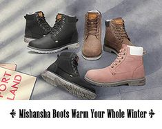 Mishansha Mens Womens Winter Anti-Slip Leather Warm Snow Boots Water Resistant Shoes Fur Lined, Kids Hiking Boots, Kids Snow Boots, Warm Snow Boots, Snow Boots Women, Winter Boots, Water Resistant Shoes, Winter Fashion Boots, Fashionable Snow Boots, Cool Boots