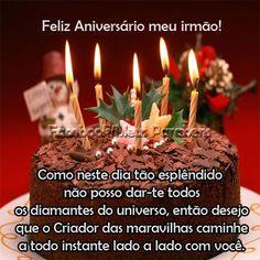 Resultado de imagem para parabéns meu irmão evangelico Messages, Birthday Candles, Happy Birthday, Facebook, Hana, Memes, Daughter Birthday Message, Happy Birthday Sms, Anniversary Quotes