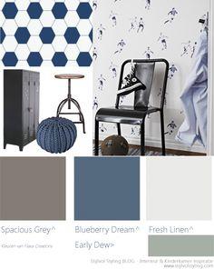 Flexa creations voor in de kinderkamer. Inspiratie van Stijlvol styling. Test nu ook je exacte kleur op jouw muur met de Flexa Kleurtesters.