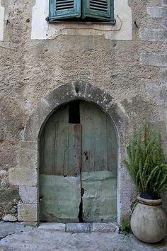 Doorway in Gorbio, Provence by Rita Crane Photography, via Flickr