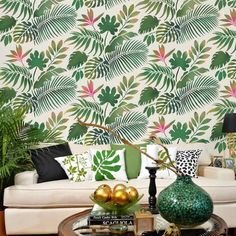 Tropical Dreams Allover Stencil - Better than Wallpaper - Reusable Wall Stencils for Affortable Room Makeover
