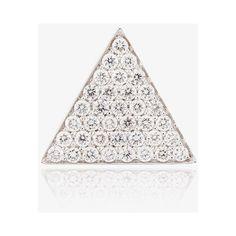 Yvonne Leon triangle stud earrings (17.890 DKK) ❤ liked on Polyvore featuring jewelry, earrings, druzy jewelry, triangular earrings, drusy earrings, triangle stud earrings and triangle jewelry