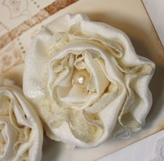 Vintage Inspired Fabric Lace Flowers