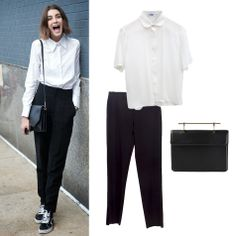 You don´t know what to wear to go the office? Today in Arropame we suggest you a simple but great look. This season' trend is painted black and white: with Uke´s shirt, Irie Wash´s pants and M2Malletier´s handbag. Get online the look: http://www.farfetch.com/es/shopping/arropame/women/items.aspx#ps=1&pv=60&oby=5&lsf=64&f64d0=1:2