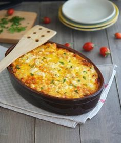 Roasted Cauliflower, Tomato and Goat Cheese Casserole Goat Cheese Recipes, Vegetable Recipes, Cheese Food, Vegetarian Recipes, Cooking Recipes, Healthy Recipes, Keto Recipes, Delicious Recipes, Dinner Recipes