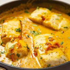 Cod Fish Recipes, White Fish Recipes, Curry Recipes, Salmon Recipes, Seafood Recipes, Cooking Recipes, Cooking Eggs, Cooking Fish, Oven Cooking