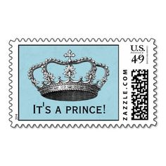 Little Prince Baby Shower Postage Stamps