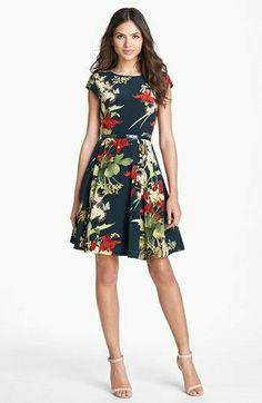 Short Dresses, Dresses For Work, Summer Dresses, Dress Me Up, I Dress, Pattern Floral, Look Formal, Vestidos Vintage, Dress Cuts
