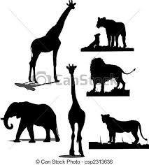 Resultado de imagem para silhueta de animais africanos