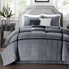 """<p>Thoroughly modern and super-sleek, the Riverside comforter set is extra soft to the touch and makes an elegant addition to your bedroom.</p><div style=""""page-break-after: always;""""><span style=""""display: none;"""">"""