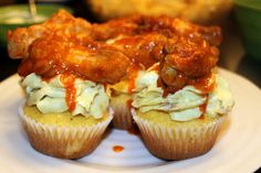 Buffalo Wing, Blue Cheese & Cornbread Cupcakes | 25 Ways To Eat Cupcakes For Every Meal