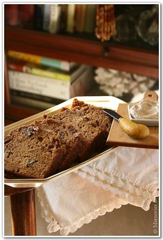 Butternut Squash Bread with Pecan Streusel Topping